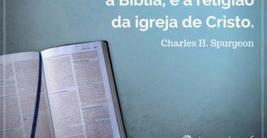 A Bíblia, toda a Bíblia e nada mais do que a Bíblia.