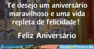 Te desejo um aniversário maravilhoso e uma vida repleta de felicidade!