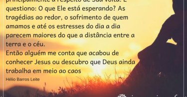 Aguarde a volta de Jesus e seja testemunha Dele