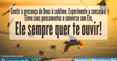 Sentir a presença de Deus é sublime.