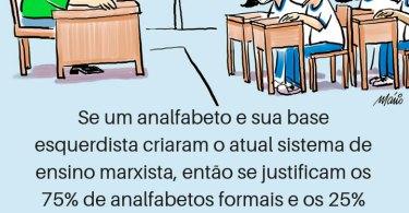 Escolas com Analfabetos