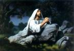 Levantando-se da oração.