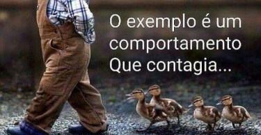 O exemplo é um comportamento que contagia.