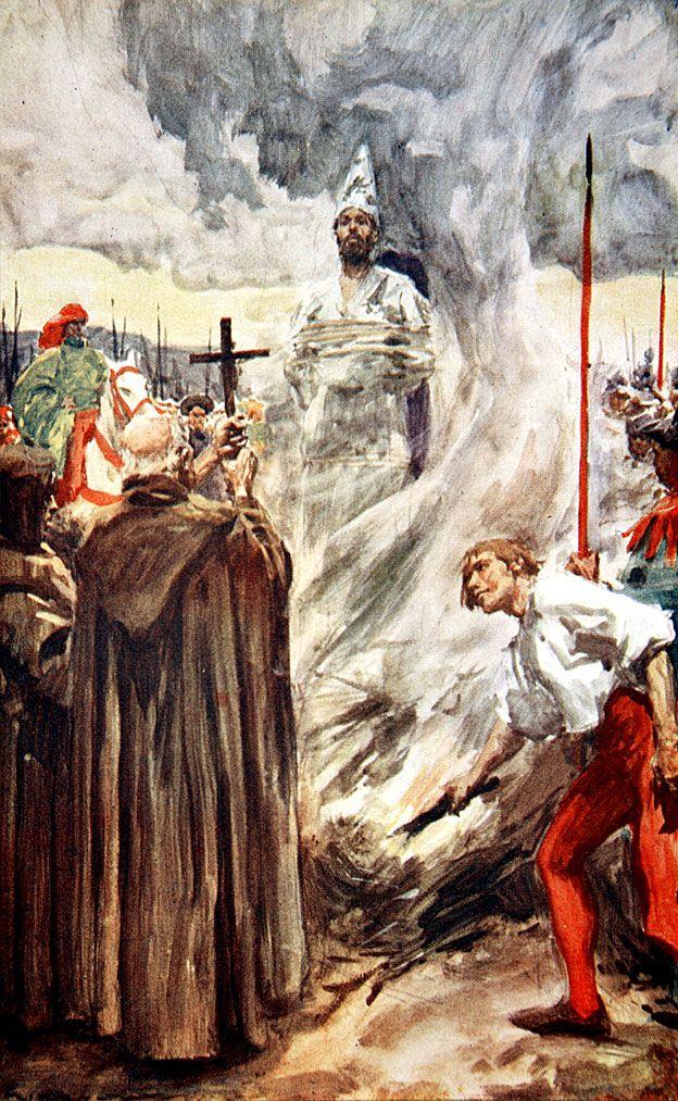 Hus morreu como herege, condenado pelo Concílio de Constança