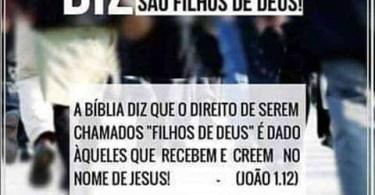 A Bíblia diz que todos são filhos de Deus!