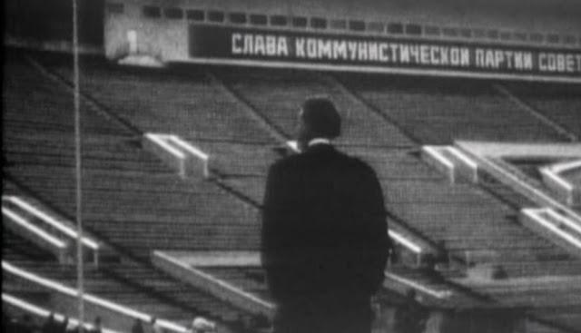 Billy Graham num estádio de Moscou em 1959