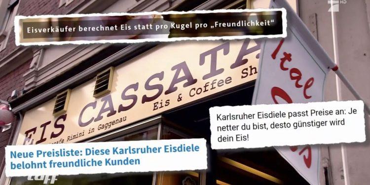 Eisdiele in Karlsruhe belohnt freundliche Kunden  Pro7