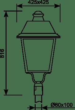 Luminaria vial Al-Villa