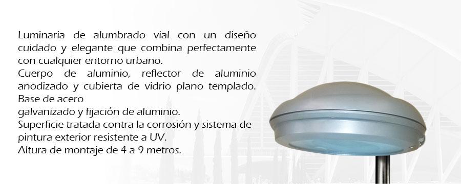 Luminaria vial Vela