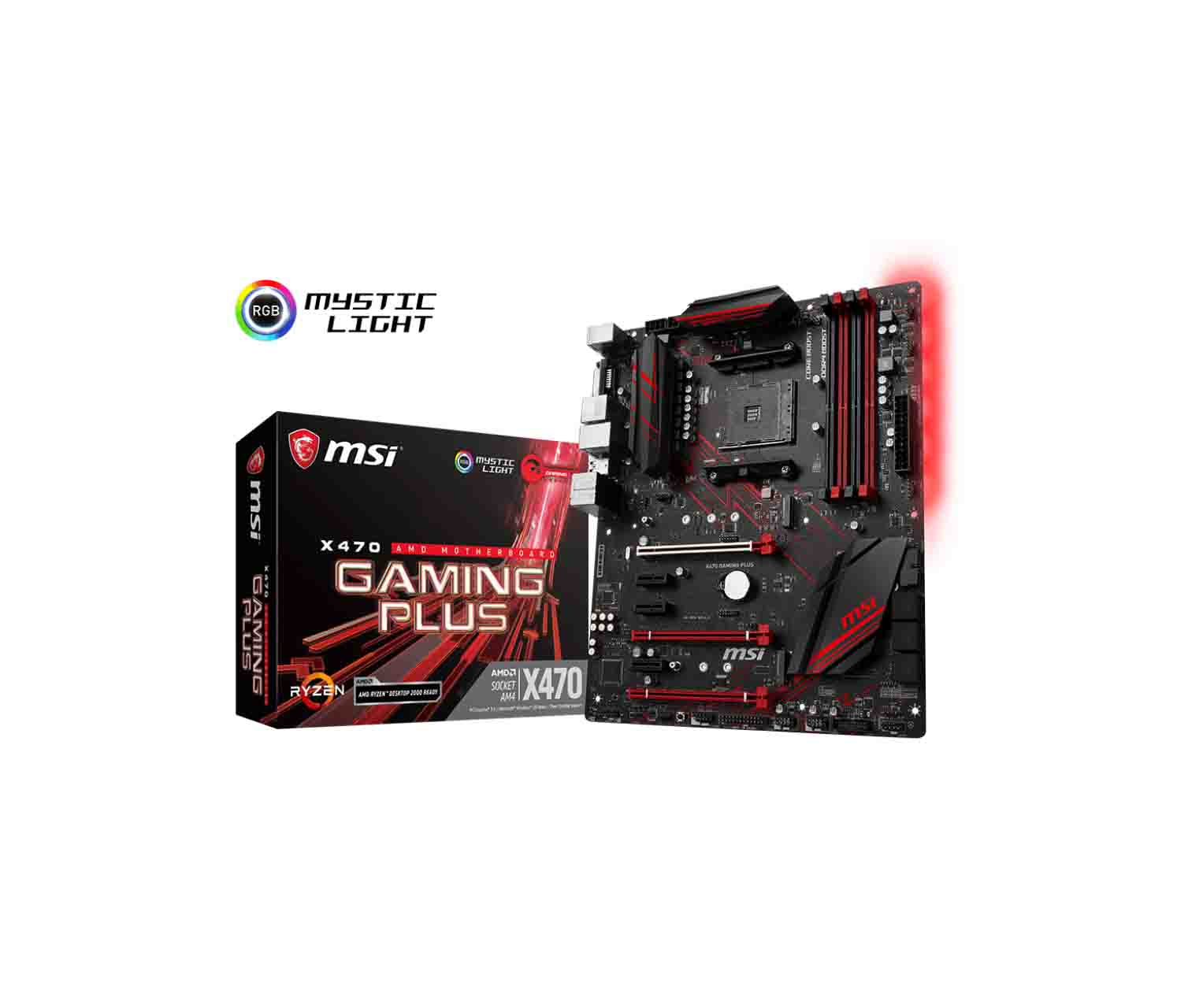 MSI X470 Gaming Plus Motherboard Supports AMD Ryzen 1st and 2nd Generation  - Eitimad