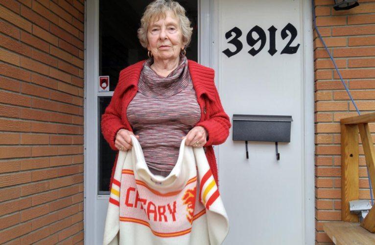 Joyce Walters is an avid Flames fan.