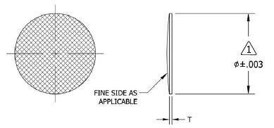 Stainless Steel Industrial Aerospace Mesh Filter Disc