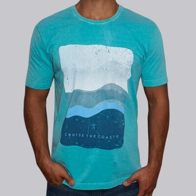 Camiseta Estonada Estampa Coast