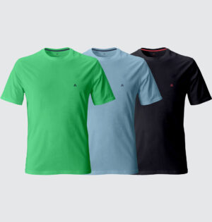 Kit Camiseta Colors Logo Bordado