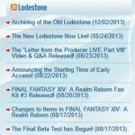 Lodestone RSS Widget