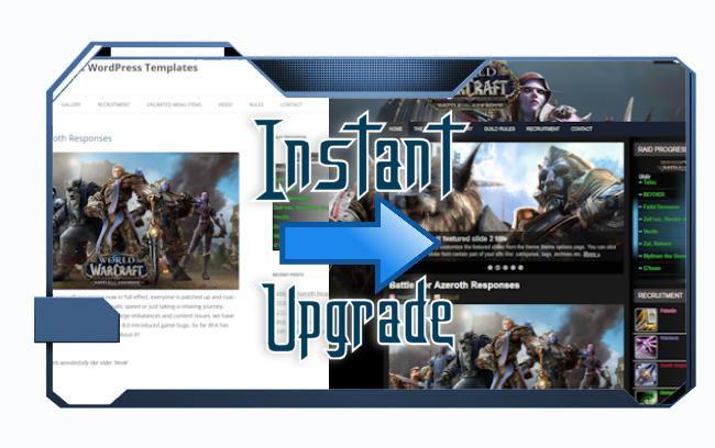 One click wordpress upgrade themes