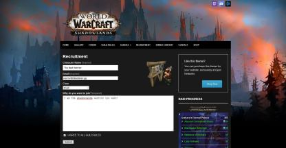 Recruitment module for classes and roles warcraft shadowlands