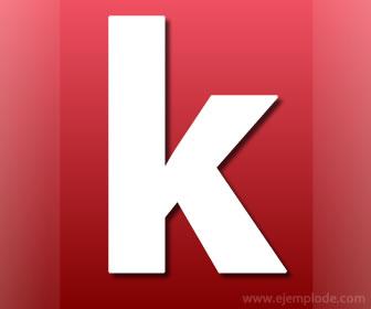 Ejemplo de Palabras con k