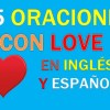 25 Oraciones En Inglés Con Love | Sentences With Love