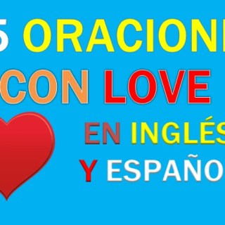 oraciones en ingles con love