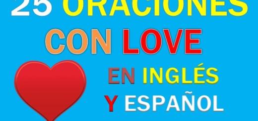 oraciones en ingles con love