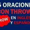 25 Oraciones Con Throw En Inglés ✔ Geniales Frases Con Throw ⚡