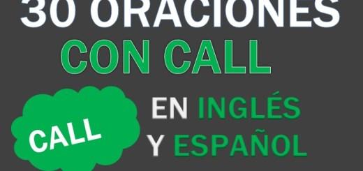 Oraciones Con Call En Inglés