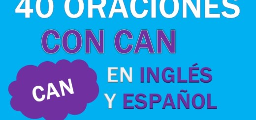 Oraciones Con Can En Inglés