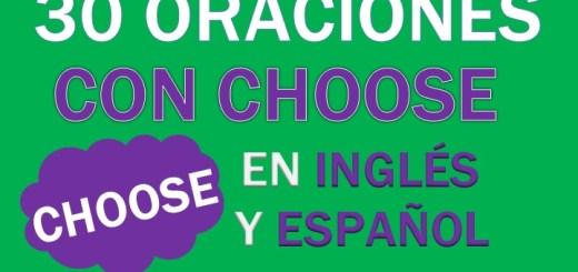 Oraciones Con Choose En Inglés