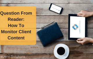 how to monitor client contente