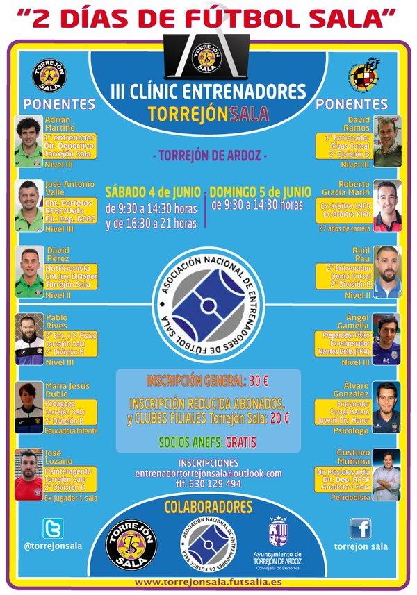 III Clinic Torrejón Sala para Entrenadores de Fútbol Sala