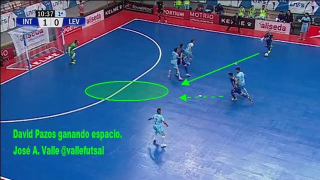 David Pazos, jugador de Movistar Inter FS ganando espacio