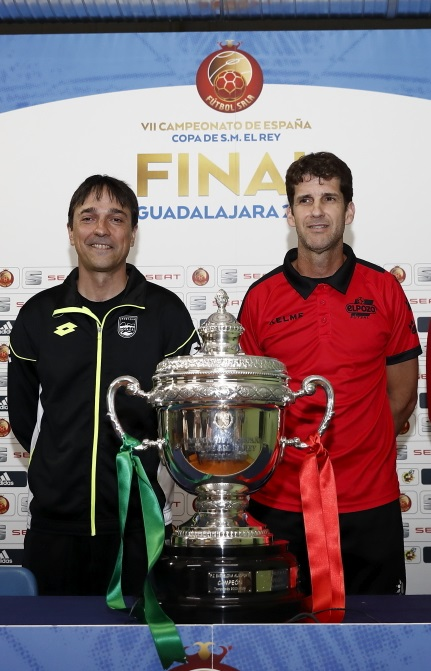 Imanol Arregui y Duda, entrenadores de Magna Gurpea y ElPozo Murcia