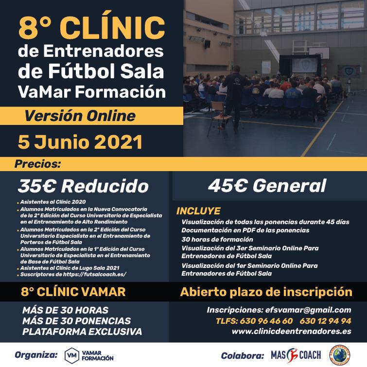 Abierto el plazo de inscripción al VIII Clínic de Entrenadores de Fútbol Sala organizado por VaMar Formación