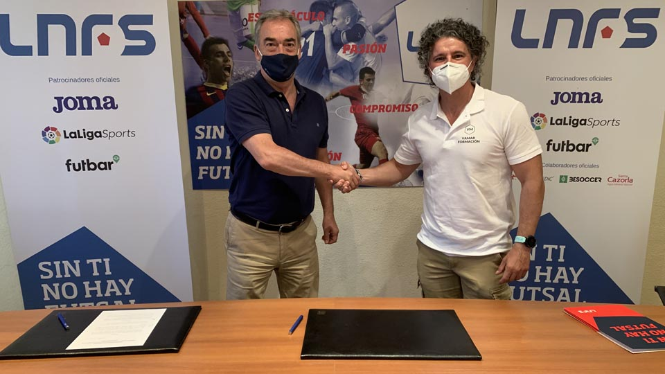 La LNFS y VaMar Formación sellán un acuerdo para potenciar el desarrollo del Fútbol Sala a nivel internacional