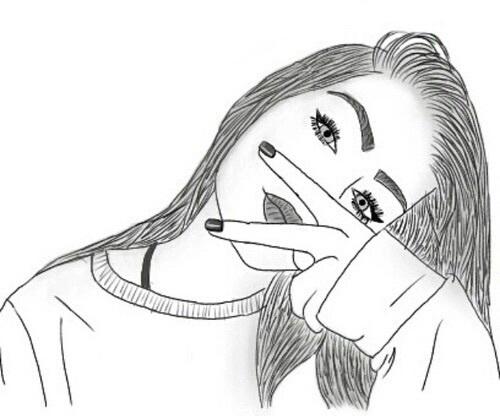 Рисунки для срисовки для начинающих для девочек