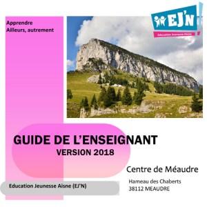 Guide de l'enseignant - Livret montagne Méaudre