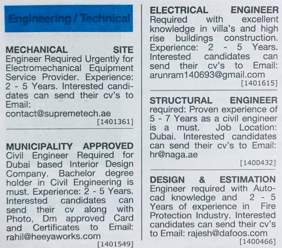 Job Vacancy In Dubai For Engineers High Paying Engineering Jobs In Dubai 2018 Job Finder In Nepal Nepali Job Finder Portal Finds Your Match