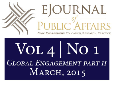 Image of the Volume 4 Issue 1 of the eJournal of Public Affairs