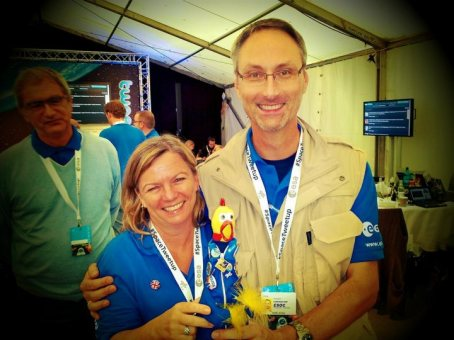 Erica and Daniel at the first European #spacetweetup