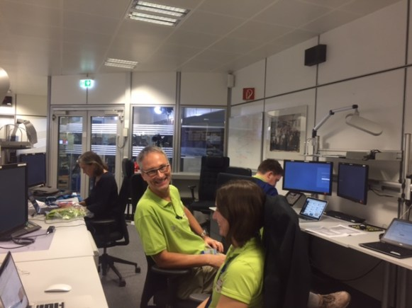 Back at ESOC in Darmstadt to help cover ExoMars arrival and landing!