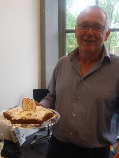 Celebrating Cees's 60th at the Leiden office!