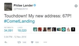 philae tweet