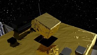 AIM deploying its lander