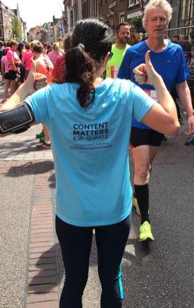 Laylan also representing EJR-Quartz during the Leiden Marathon 10K.