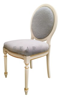 Delicate Small Grey Wooden Dressing Stool/Vanity Chair ...