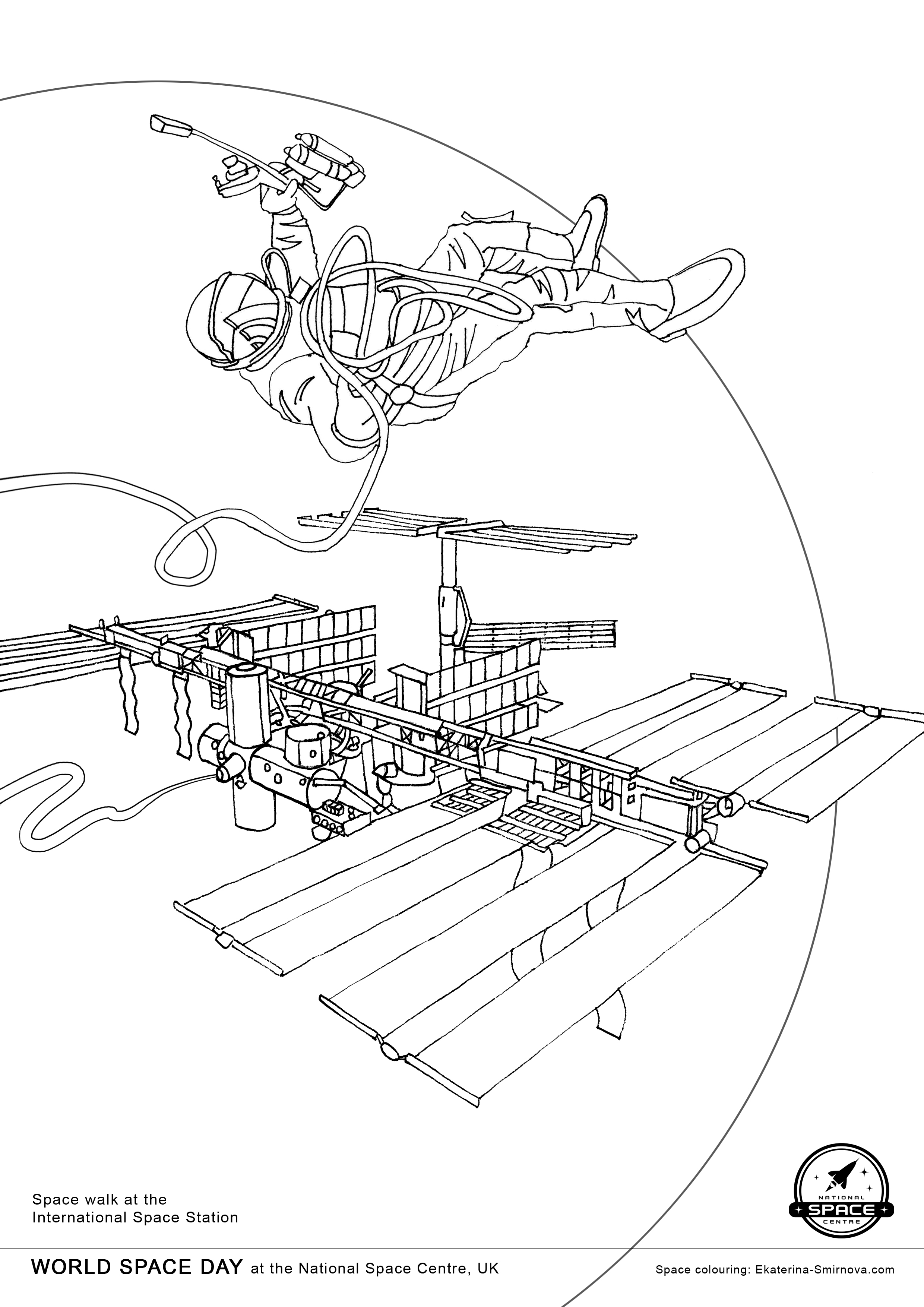 Coloring Book For Space Missions