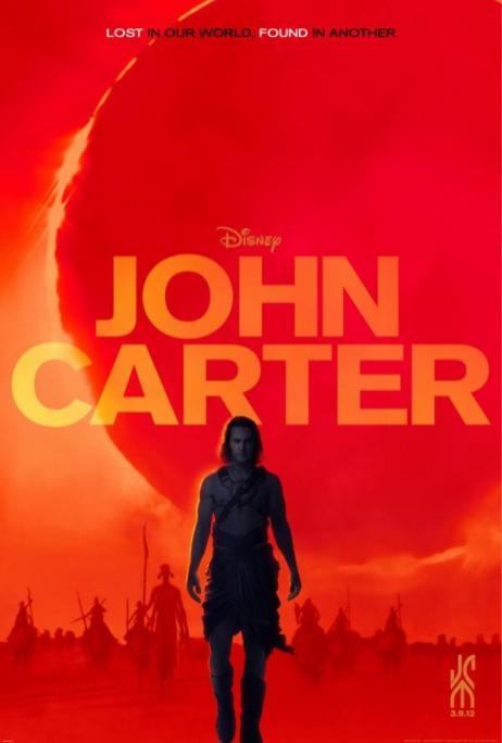 Starring Taylor Kitsch as John Carter