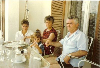 The Greek In-laws - me with my yiayia and papou