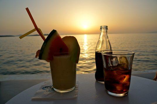 Enjoying a cocktail at Little Venice